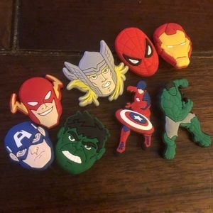 Marvel crocs jibbets/charms